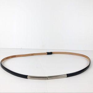 Anthropologie Isabella Bird Skinny Leather Belt